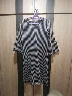 [BN] Primark navy stripe dress