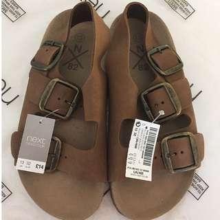 Never used boys leather sandals from England!