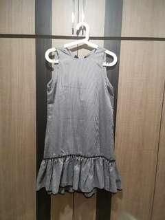 [BN] Gingham flare dress