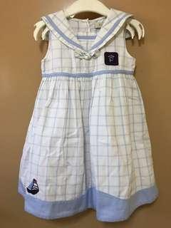 Periwinkle baby sailor girl white dress 24 months
