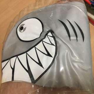 Silver Shark Swimming Cap for Children