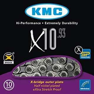 KMC X10-93 10 Speed Chain silver
