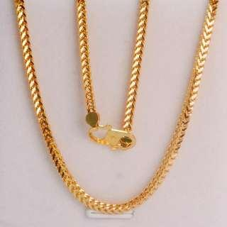 🚚 916 Gold Solid Necklace