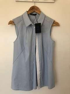 Cue City Blue Sleeveless Blouse (8)