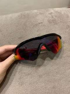 Oakley M2 Frame Polished Black with Red Iridium