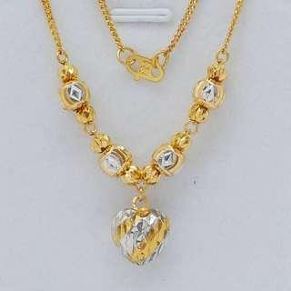 🚚 916 Gold Solid Chocker Chain