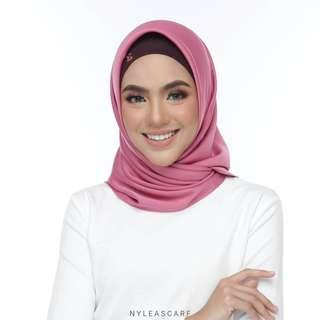 🚚 Musalmah Square Shawl by Nyleascarf - Pink Smoothie