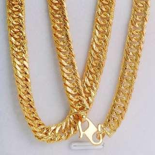 🚚 916 Gold Hollow Chain
