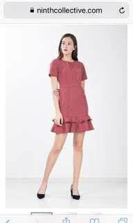 🚚 BNWT Ninth Collective RYLEIGH DRESS IN CHESTNUT ROSE