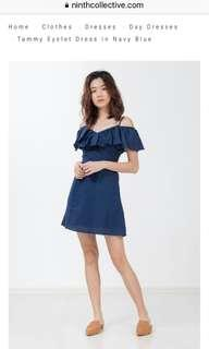 🚚 BNWT Ninth Collective Tammy Eyelet Dress in Navy