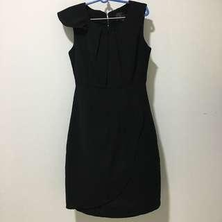 🚚 Little Match Girl Black Work Dress