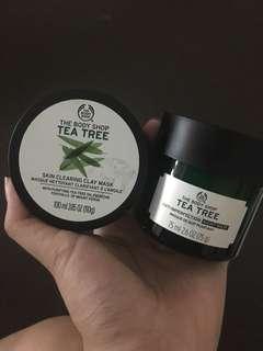 The body shop tea tree oil masks