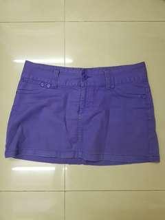 [PRE-LOVED] Purple Denim Mini Skirt