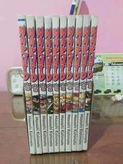 Komik serial naruto (1 - 10) satu set dengan tempat buku