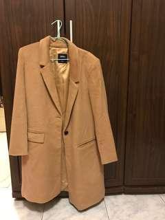 全新正品 spao 韓版大衣 長版大衣