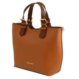 Tuscany Leather Saffiano Leather Tote