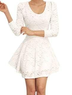 Warehouse Flared Lace Dress (L) 🇬🇧