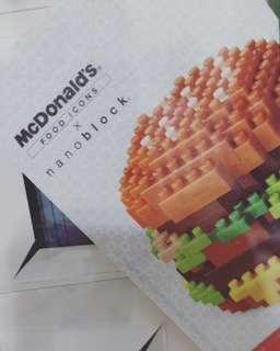 Brand New - Full Set McDonalds Nanoblock Collectible