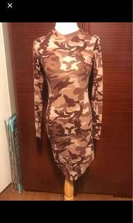 Brand new camo dress