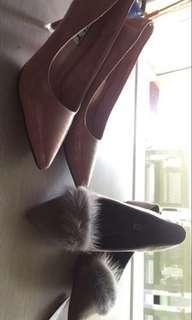 pomp flatshoes sepatu bulu