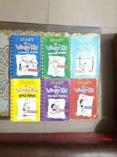 Diary of A Wimpy Kid book 1-6