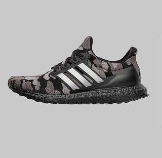 BAPE X ADIDAS ULTRABOOST BLACK US9.5/UK9