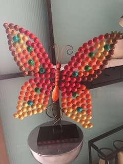 Colourful Gradient Butterfly Metal Sculpture