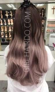 Girlhairdo ombre pink volumeHair Wig