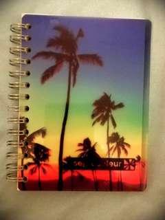 Note book white paper beach theme
