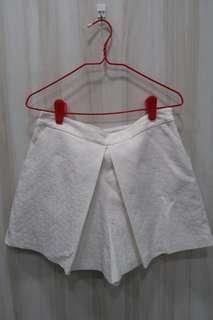 Forever New White Shorts with Flower Detail