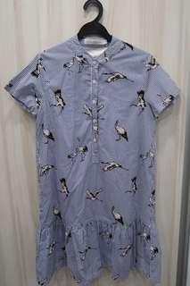 LAB Love and Bravery Bird Motif Dropwaist Dress