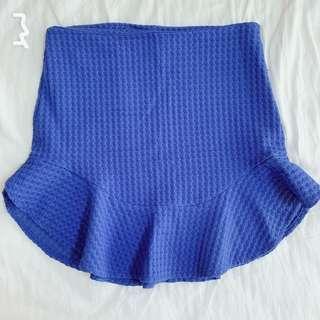 Zara Metallic Blue Skirt