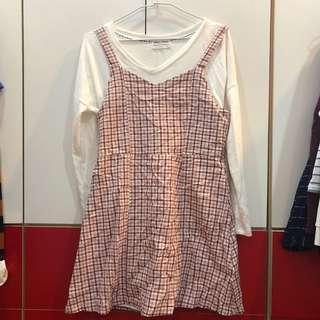 🚚 AUN 鄉村風格紋洋裝