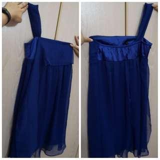 Blue Chiffon Dinner Dress