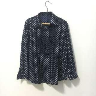 Navy Dotted (Polkadot) Shirt