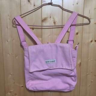 粉色少女方形包包 #一百均價