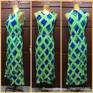 Hawaiian Inspired Maxi Dress M-L
