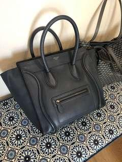 Celine Mini Luggage in Grey Blue