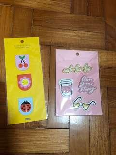 kikki.k bookmark and leather sticker