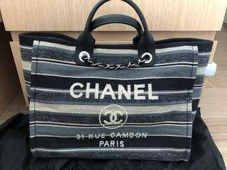 Chanel 間條布袋