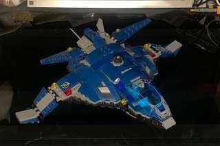 Lego 76051- Quinjet 飛機(已砌)