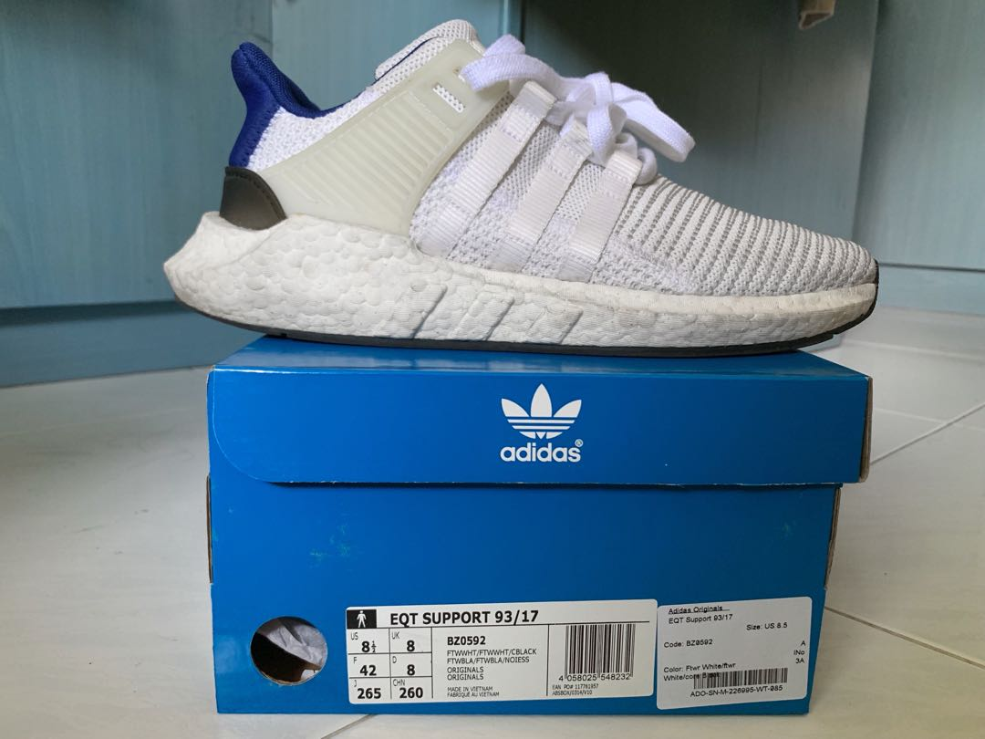 finest selection 9d9a5 f7ade Adidas EQT 9317 Royal Blue, Mens Fashion, Footwear, Sneakers on Carousell