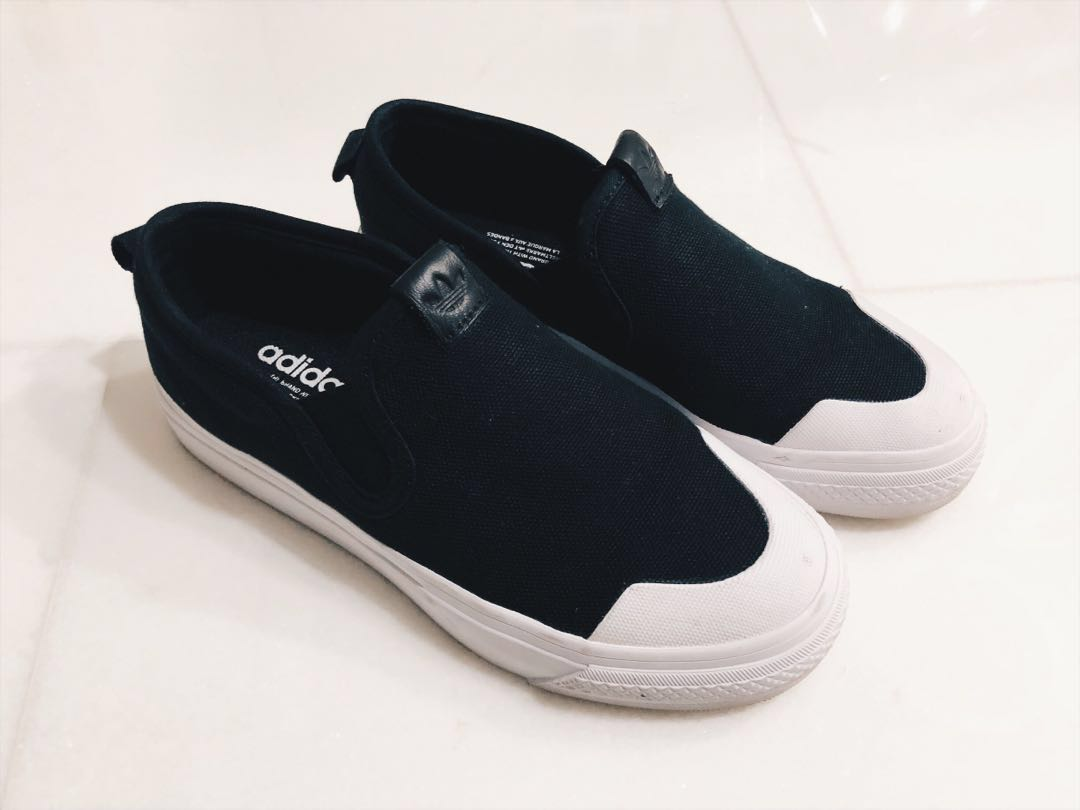 e69898a32c adidas Nizza slip on in black