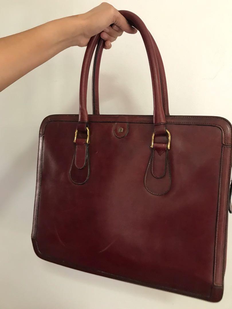 Aigner Vintage Red Bag