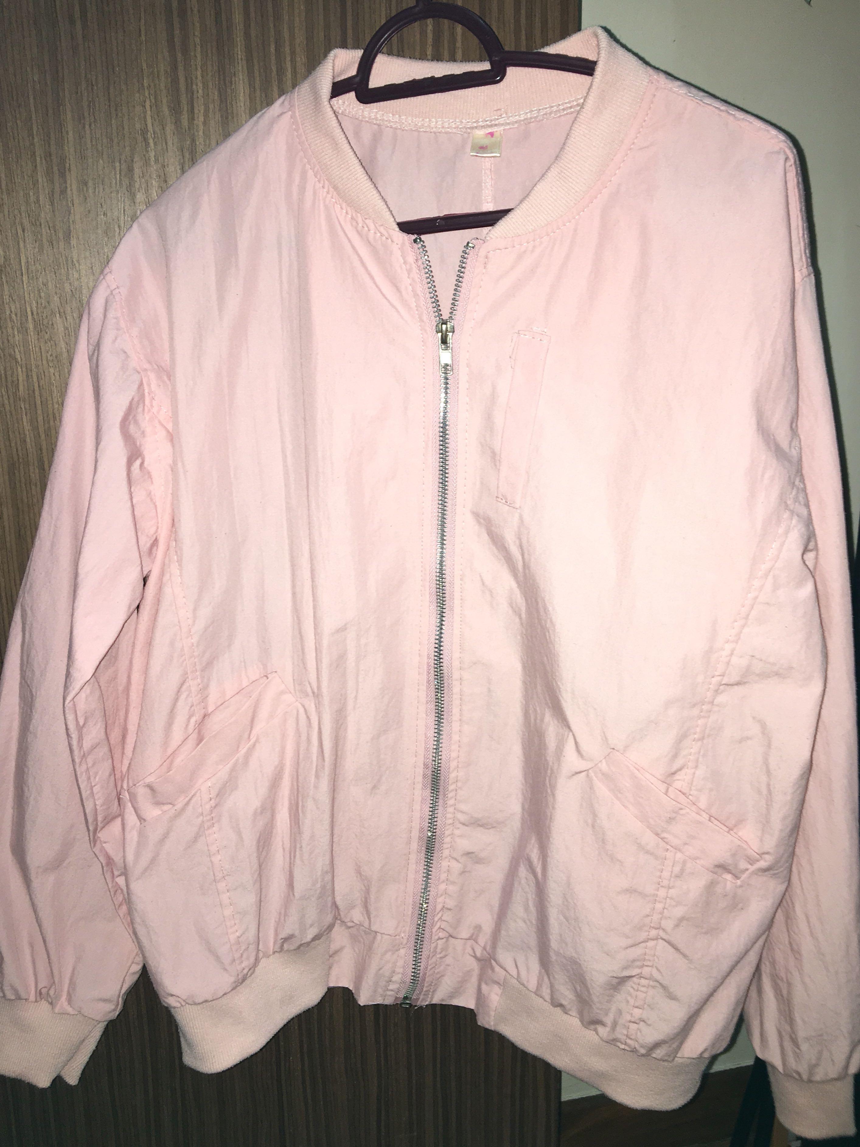 99db5dbf8 Baby Pink Bomber Jacket
