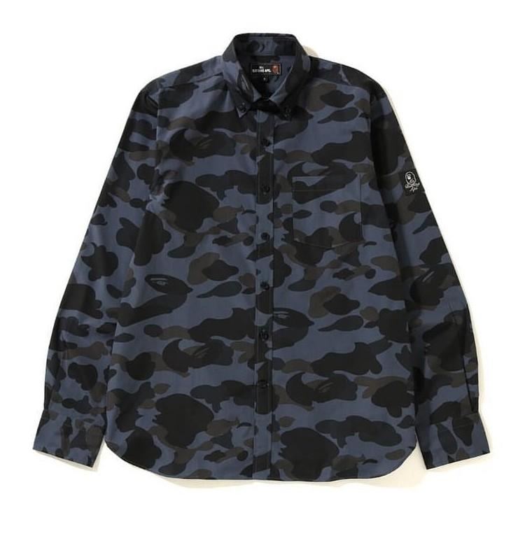 1b208ad6 BAPE 1st Camo BD Shirt (Black), Men's Fashion, Clothes, Tops on ...