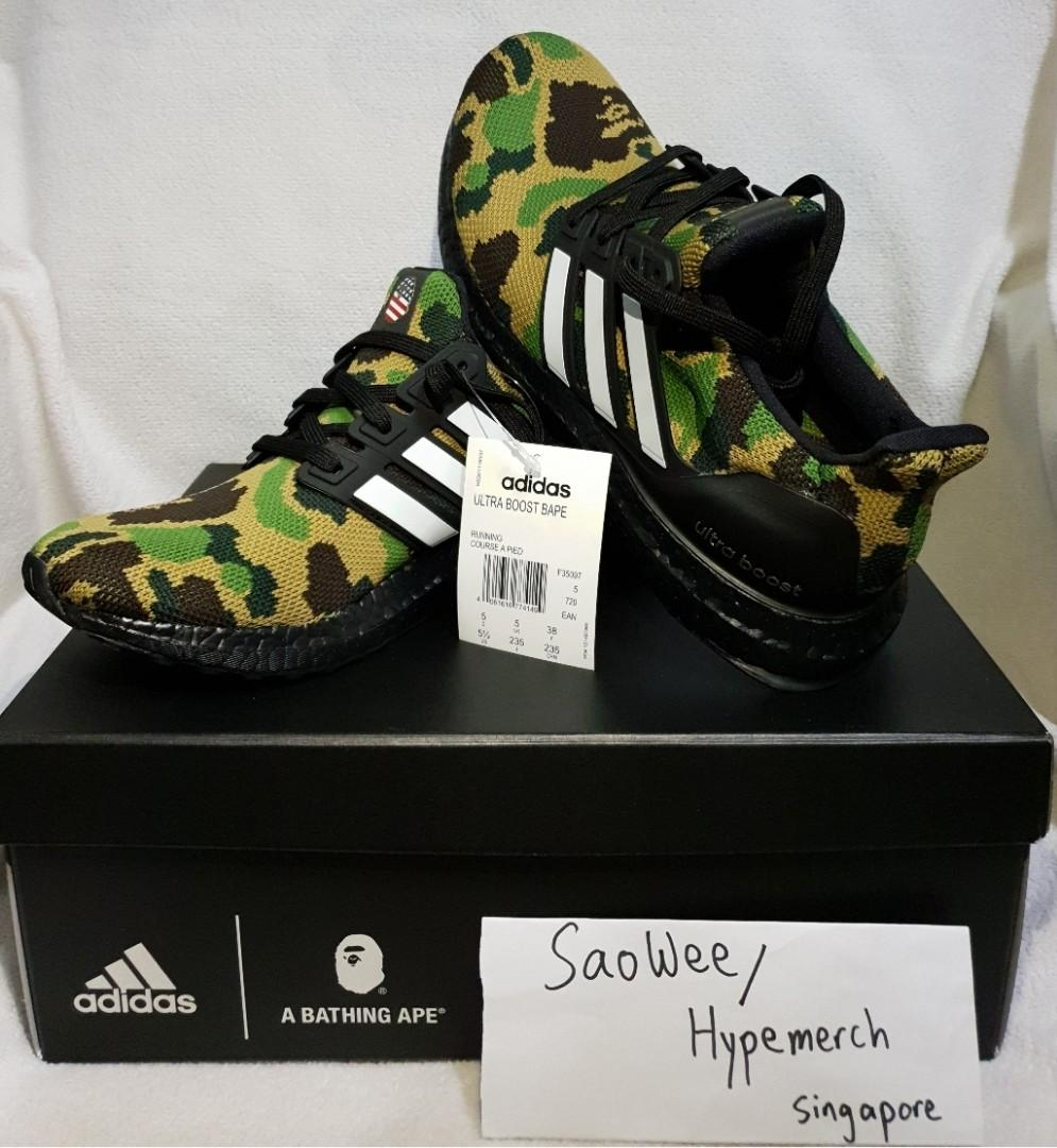 innovative design ffe4f 350d1 Bape X Adidas Ultraboost on Carousell
