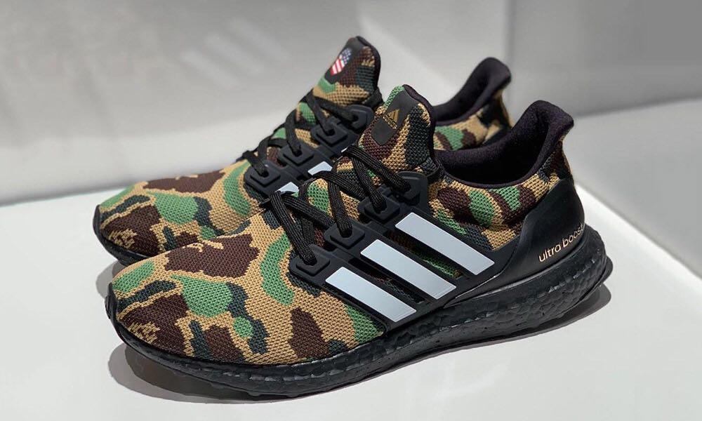 e944456f349 Bape x Adidas Ultraboost Green Camo