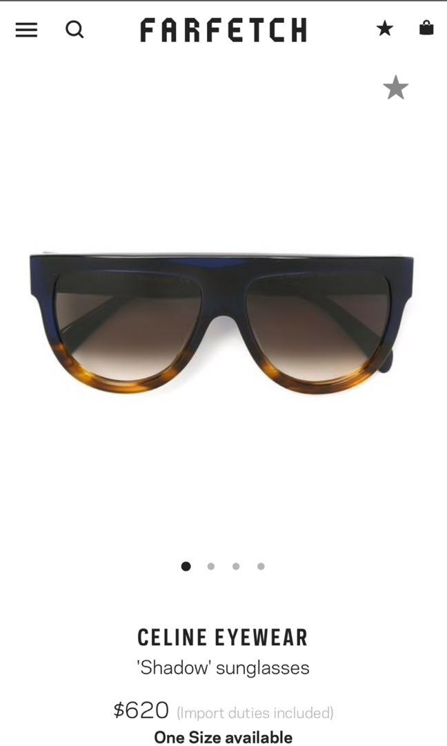 2cf27527dcf Celine shadow sunglasses black and tortoise