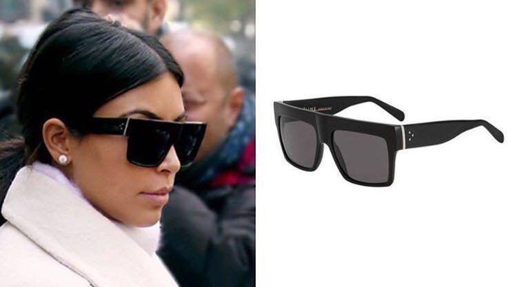 Celine ZZ Top Black Sunglasses as seen on Kim Kardashian